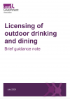 Licensing of outdoor drinking and dining - briefing note
